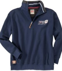 Redfield grote maat sweater polokraag rits donkerblauw