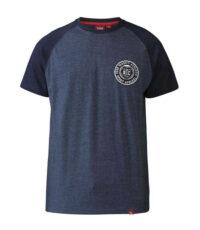 D555 grote maat t-shirt blauw en donkerblauw