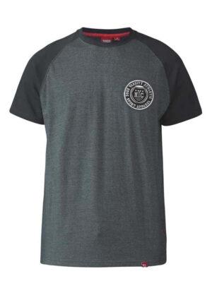 D555 grote maat t-shirt grijs en zwart