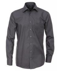 Casa Moda overhemd mouwlengte7 uni antraciet strijkvrij