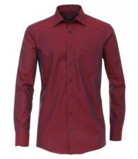 Casa Moda overhemd 72cm extra lange mouw uni donkerrood strijkvrij