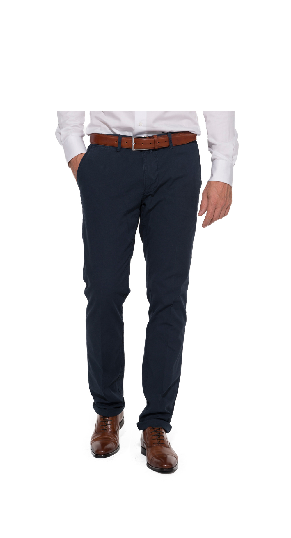 Pionier chino stretch grote maat donkerblauw model Robert