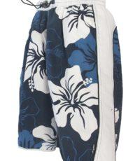 Elemar grote maat zwemshort blauw met witte bloem print