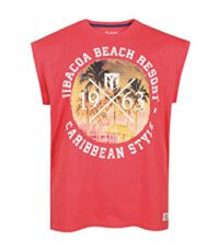 Redfield mouwloos t-shirt grote maat blush Jibacoa Beach Resort