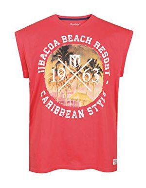 Redfield mouwloos t-shirt grote maat blush Jibacoa Beach Resort