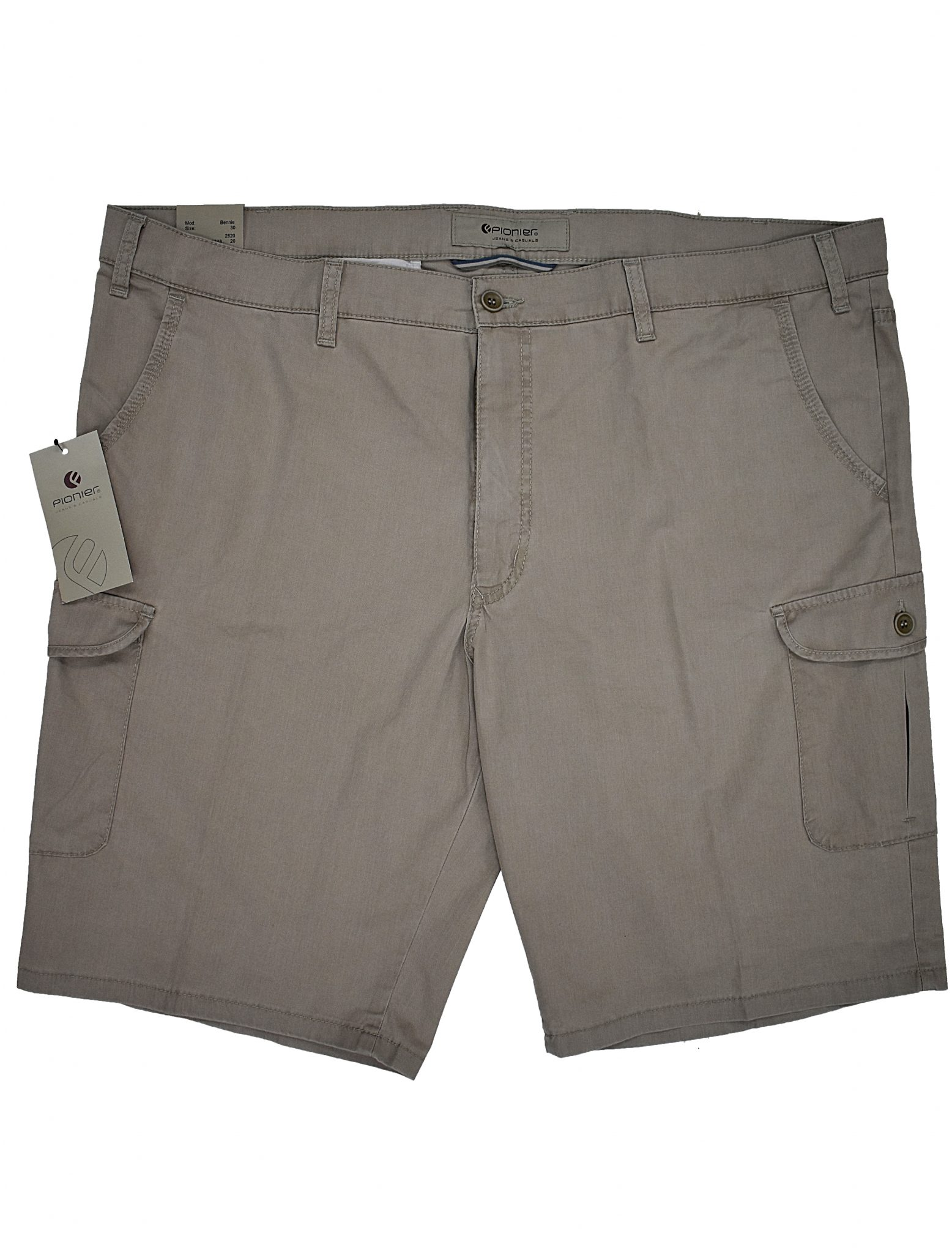 Pionier grote maat korte broek beige model Bennie