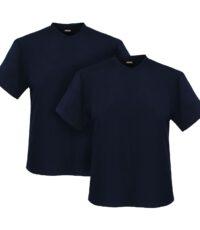 Adamo grote maat t-shirts donkerblauw