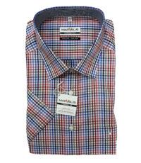 Marvelis grote maat overhemd blauw, rood en wit ruitje strijkvrij