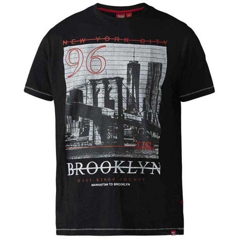 D555 t-shirt grote maat korte mouw zwart Brooklyn