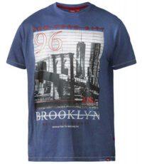 D555 t-shirt grote maat blauw Brooklyn