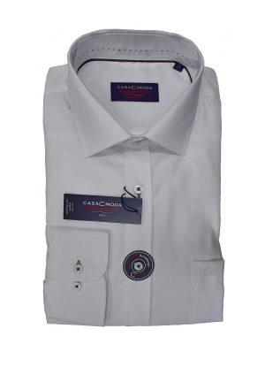 Casa Moda overhemd 72cm extra lange mouw wit strijkvrij
