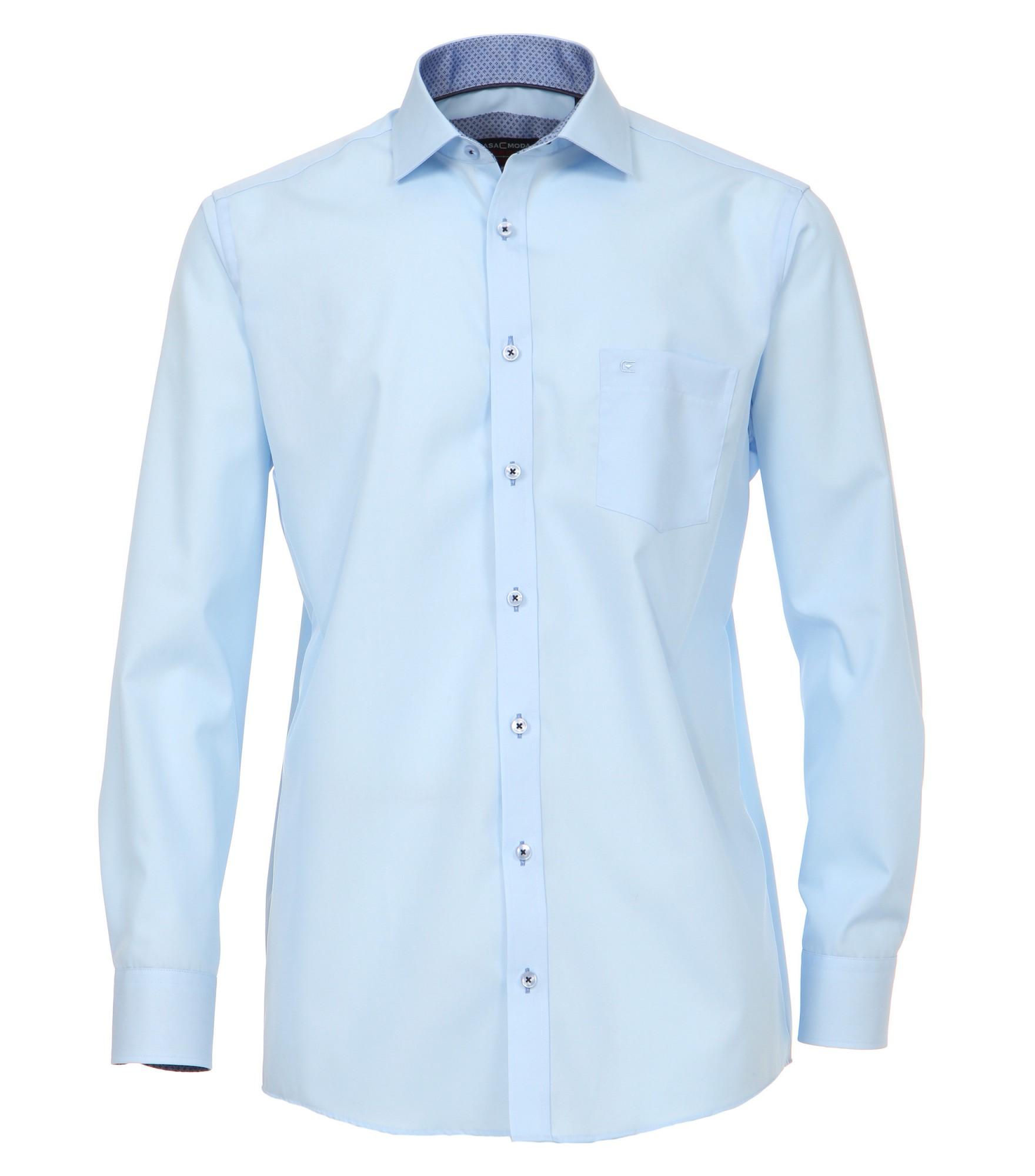 Overhemd Extra Lange Mouw.Overhemd Casa Moda 72cm Extra Lange Mouw Blauw Strijkvrij