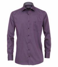 Casa Moda grote maat overhemd lange mouw uni paars