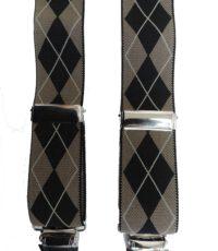 Dobrefa extra lange bretels beige en zwarte griot