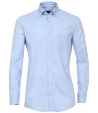 Casa Moda grote maat overhemd lange mouw lichtblauw button down