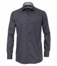 Casa Moda grote maat overhemd lange mouw antracietgrijs strijkvrij