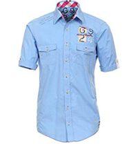 Casa Moda grote maat overhemd korte mouw lichtblauw sportief
