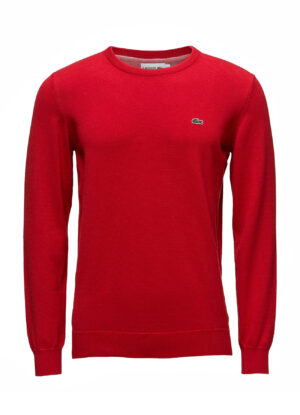 Lacoste grote maat trui ronde hals rood