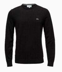 Lacoste grote maat trui ronde hals zwart
