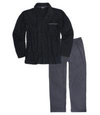 Adamo grote maat pyjama zwart