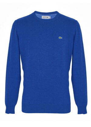Lacoste grote maat trui ronde hals royal blue
