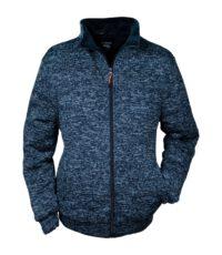 Brigg grote maat fleece jack blauw gemeleerd