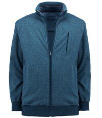 Redfield grote maat casual sweatvest blauw en grijs gemeleerd
