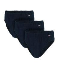Adamo grote maat slips donkerblauw 3 stuks verpakking