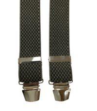 Extra lange bretels groen fantasie motiefje glans garen