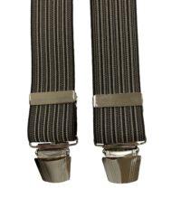 Extra lange bretels bruin en donkerbruin lengte streep