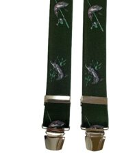 Extra lange bretels groen met snoeken