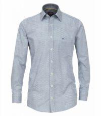 Casa Moda overhemd extra lange mouw 72cm blauw fantasie
