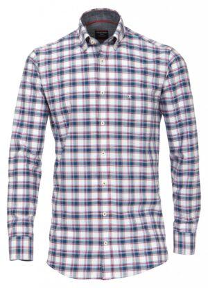 Casa Moda overhemd extra lange mouw 72cm blauw rood wit