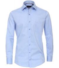 Casa Moda grote maat overhemd lange mouw uni lichtblauw strijkvrij