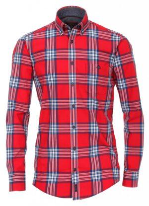 Casa Moda overhemd extra langemouw 72cm rood en blauwe ruit