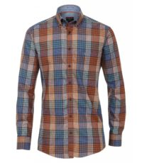 Casa Moda overhemd mouwlengte7 meerkleurig ruitje