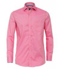 Casa Moda overhemd extra lange mouw mouwlengte7 roze strijkvrij