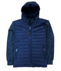Kitaro sweat jacket grote maat donkerblauw met capuchon