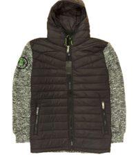 Kitaro sweat jacket grote maat zwart met capuchon