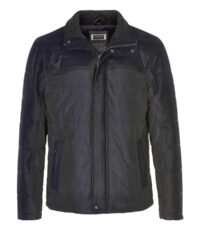 Canson grote maat winter jack donkerblauw met zwart