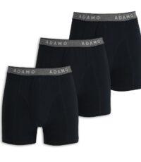 Adamo grote maat 3 pak boxershorts zwart met grijze band