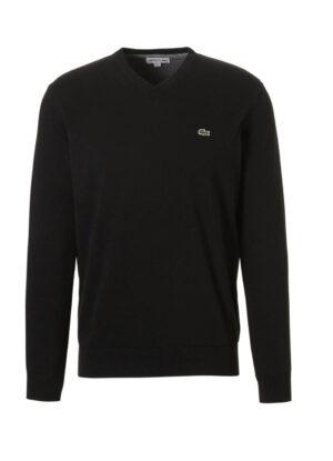 Lacoste grote maat trui v-hals zwart