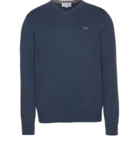Lacoste grote maat trui v-hals blauw