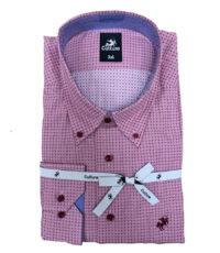 Culture grote maat overhemd lange mouw roze fantasie patroon