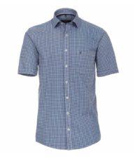Casa Moda grote maat overhemd korte mouw blauw donkerblauw en wit