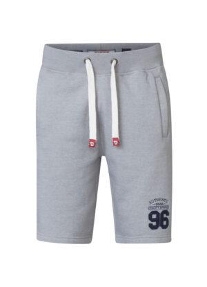 D555 grote maat korte joggingbroek grijs