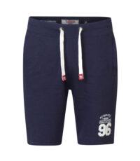 D555 grote maat korte joggingbroek donkerblauw