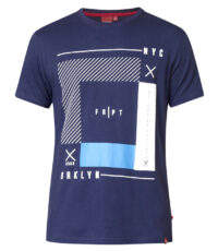 D555 t-shirt grote maat donkerblauw NYC BRKLYN