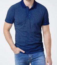 Piere Cardin grote maat poloshirt korte mouw faded blauw