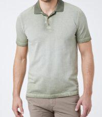 Piere Cardin grote maat poloshirt korte mouw faded groen